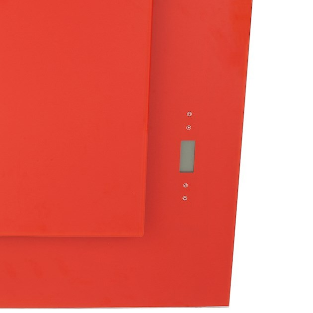Coifa Parede Magma Inox e Vidro Vermelho Touch 80cm - 220V - Elettromec