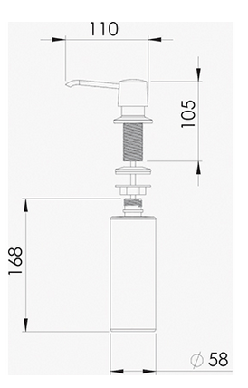 Dosador Detergente Pequeno - De Bacco