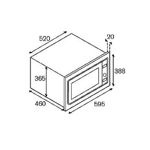 Microondas Combinado Adesso BERTAZZONI LA GERMANIA série Futura 10 Funções Digital 26 Litros 60cm - 220v