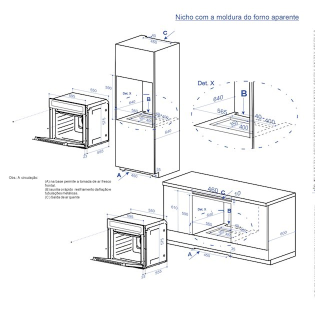 Forno Elétrico Elettromec Sole Inox 67 Litros Multifunções Funções Digital 60cm - 220v