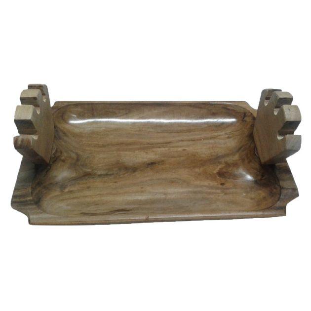 Gamela em madeira de Ipê tratada com suporte para espetos - Design Churrasqueira