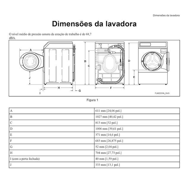 Lavadora de Roupas 10,5Kg Branca - Speed Queen
