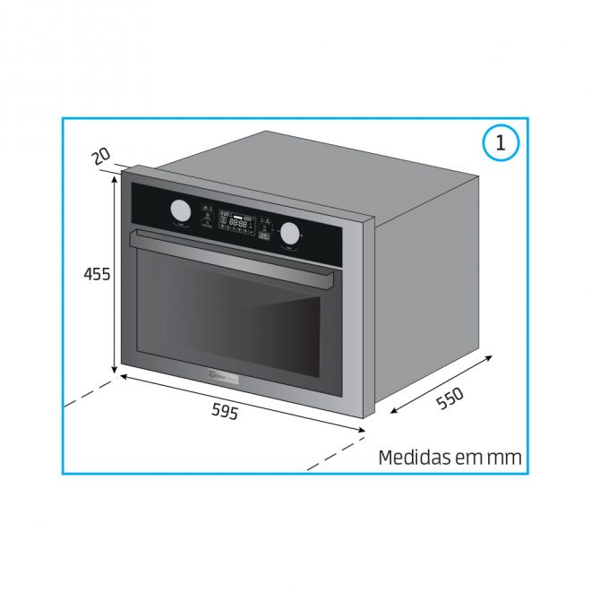 Microondas de Embutir Desea 45 Litros  60cm  220v - Midea