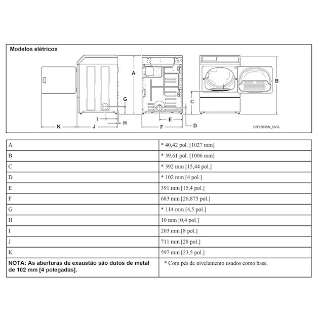 Secadora de Roupas Elétrica 10,5 Kg Branca - 220V - Speed Queen