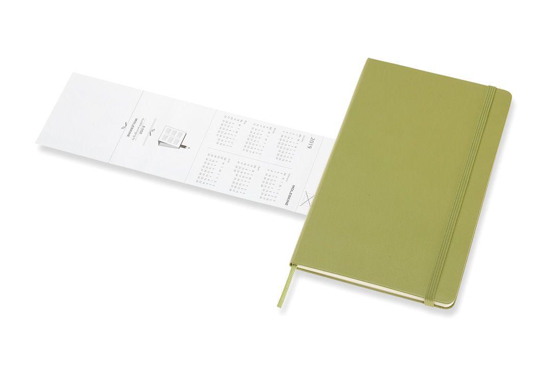Agenda Moleskine 2019, Semanal Pautada, 12 meses, Tamanho Grande (13 cm x 21 cm), Verde Musgo, Capa Dura