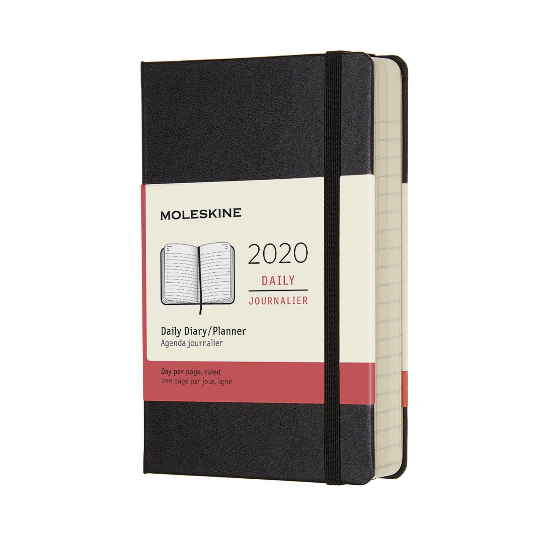 Agenda Moleskine 2020, Diária 12 M, Bolso (9 x 14 cm), Preta, Capa Dura
