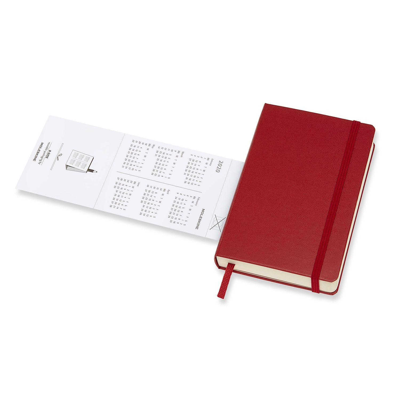Agenda Moleskine 2020, Diária 12 M, Bolso (9 x 14 cm), Vermelha, Capa Dura
