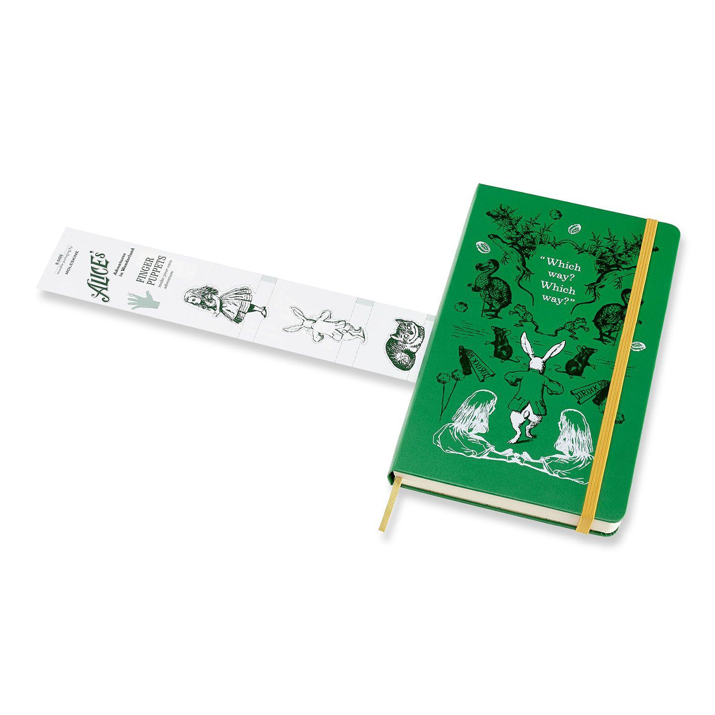 Agenda Moleskine Diária 12M, Edição Limitada Alice, Grande, Verde, Capa Dura