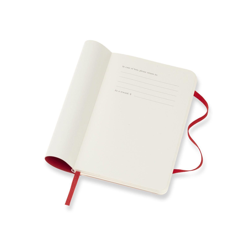 Agenda Moleskine Semanal Horizontal 12M, Bolso, Vermelha, Capa Flexível