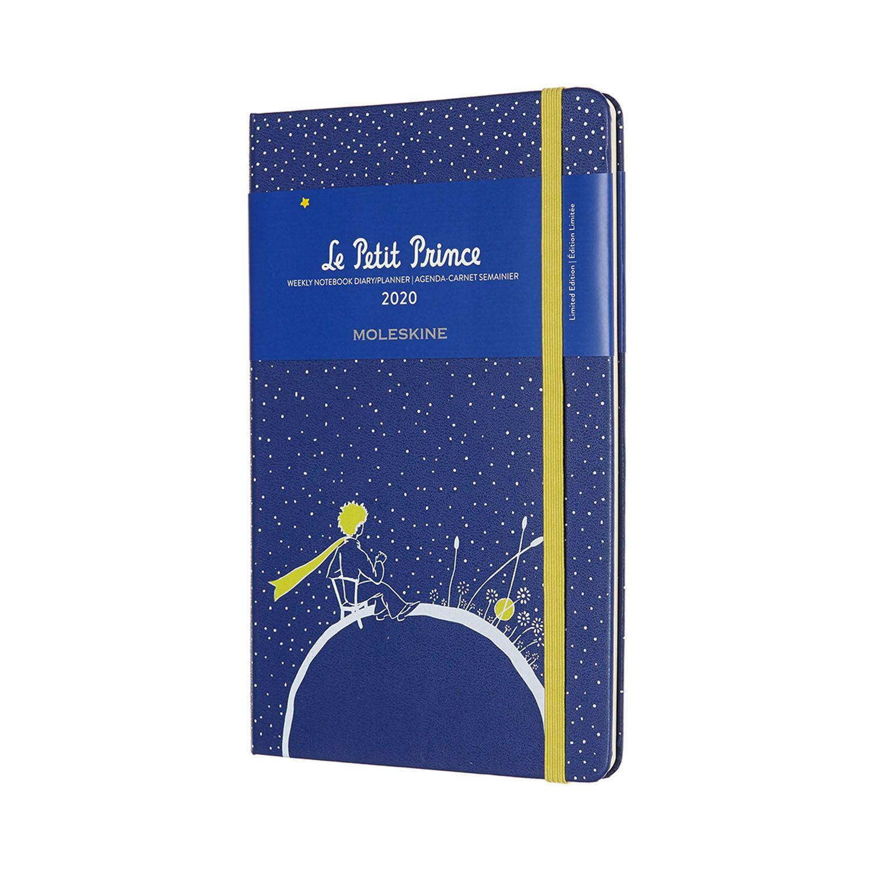 Agenda Moleskine Semanal Pautada 12M, Edição Limitada Pequeno Príncipe, Grande, Planeta, Capa Dura