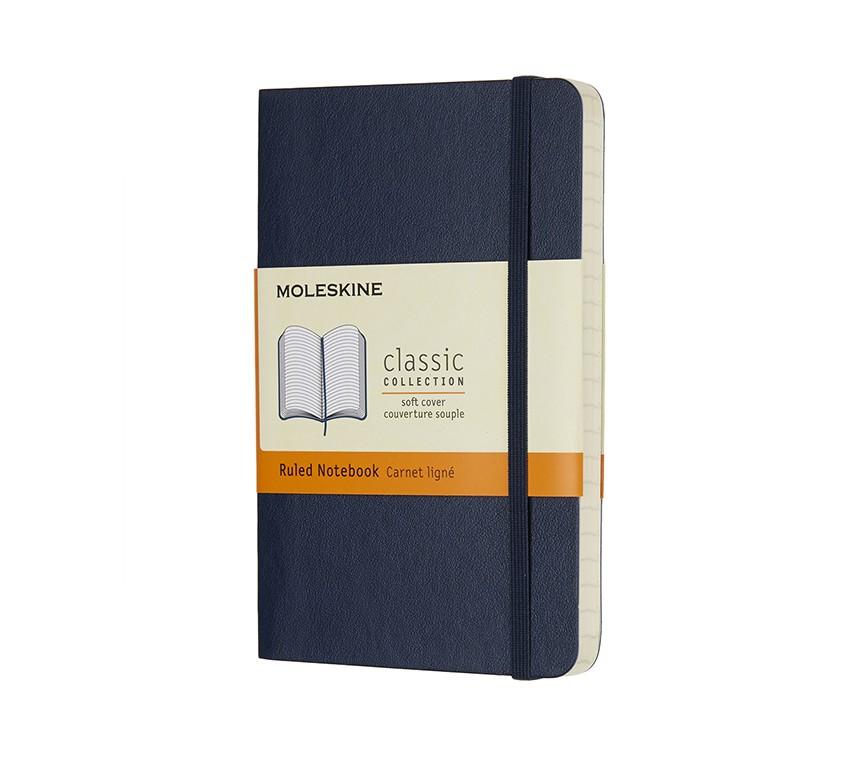 Caderno Moleskine Clássico, Azul Zafira, Capa Flexível