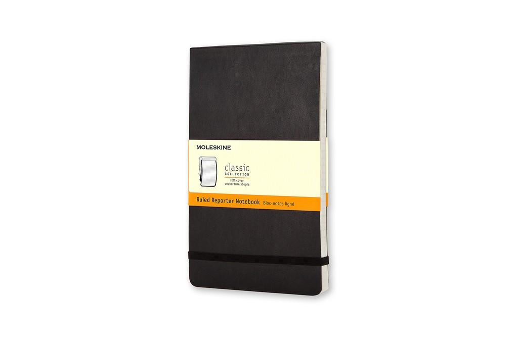 Caderno Moleskine Clássico, Reporter, Preto, Capa Flexível, Pautado, Grande