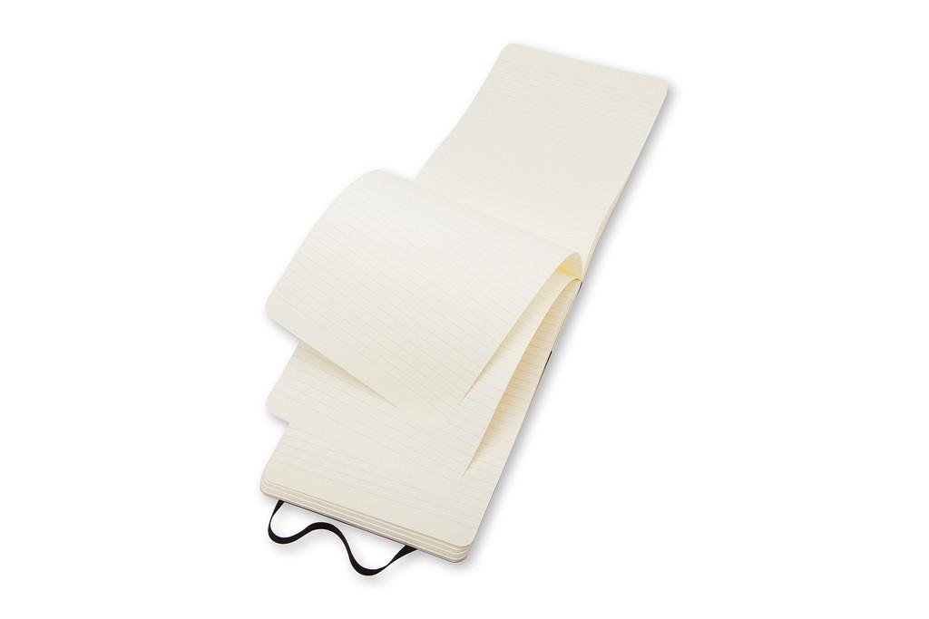 Caderno Moleskine Clássico, Reporter, Preto, Capa Flexível, Pautado, Tamanho Bolso