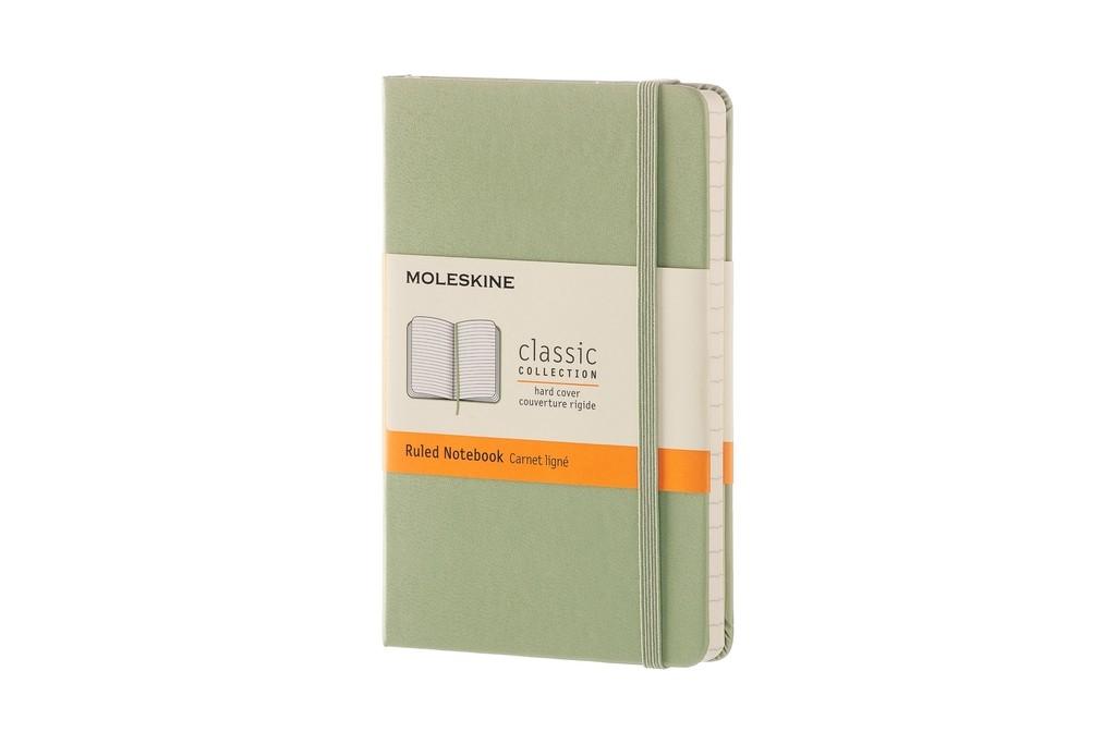 Caderno Moleskine Clássico, Verde Óxido, Capa Dura