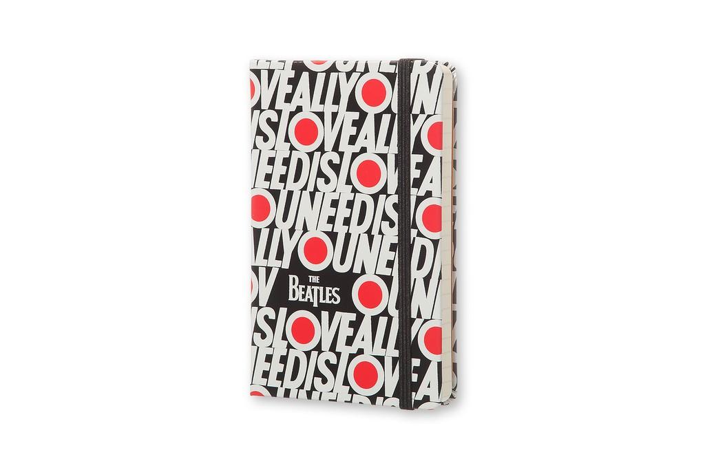 Caderno Moleskine Edição Limitada, Beatles, All You Need Is Love, Capa Dura, Pautado, Tamanho Bolso