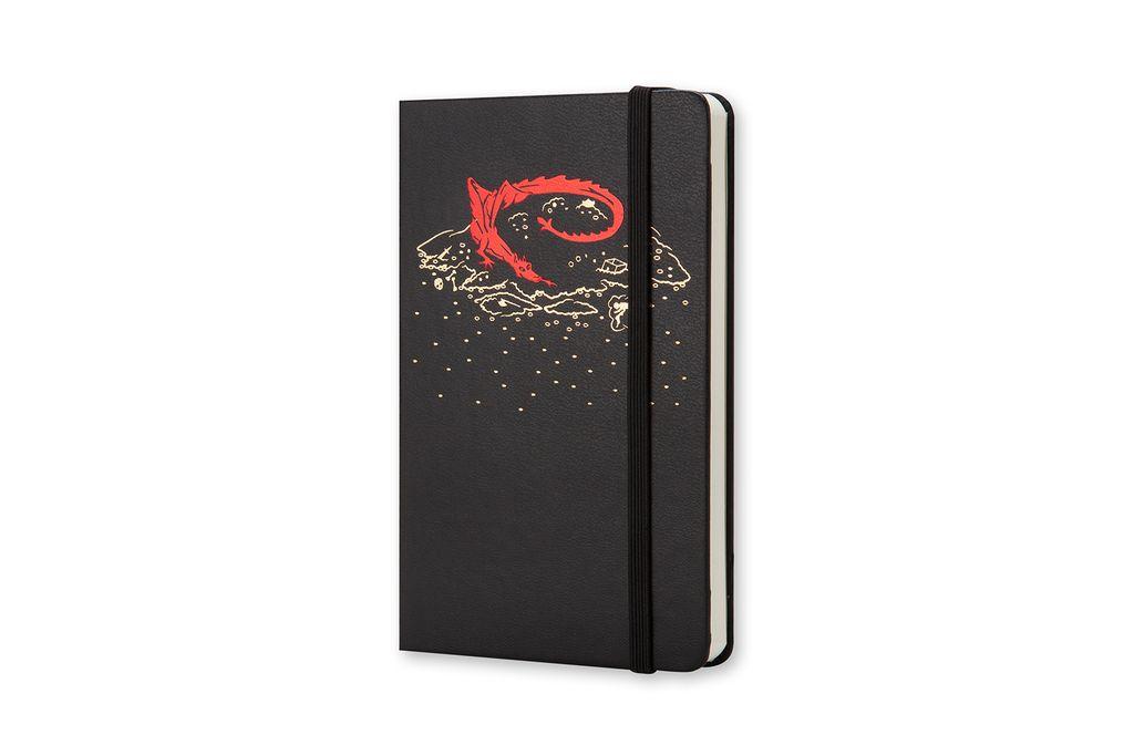 Caderno Moleskine Edição Limitada, Hobbit, Preto, Capa Dura, Sem Pauta, Tamanho Bolso