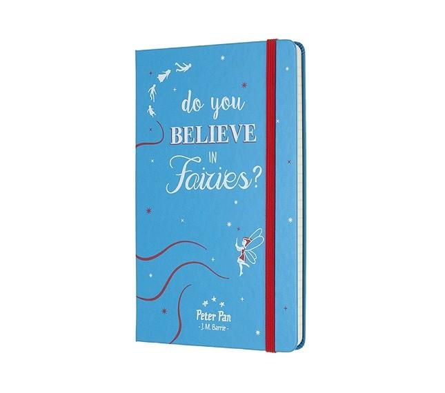 Caderno Moleskine Edição Limitada, Peter Pan, Do You Believe in Faries?, Capa Dura, Pautado, Grande