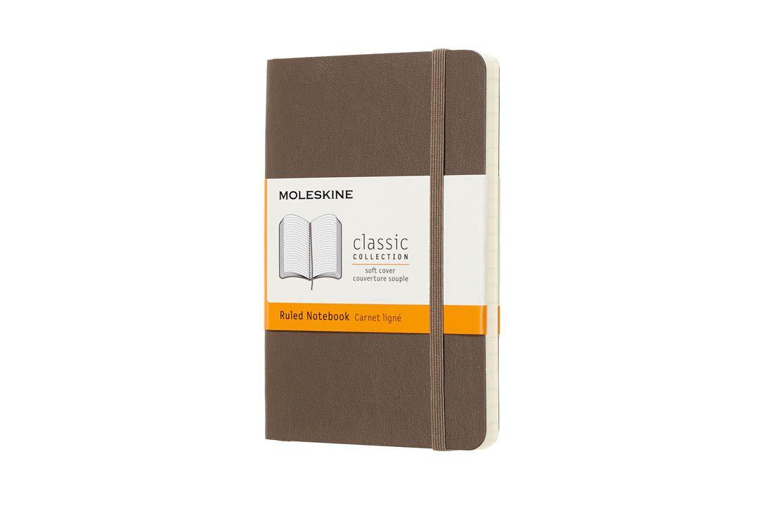 Caderno Moleskine Clássico, Marrom Terra, Capa Flexível