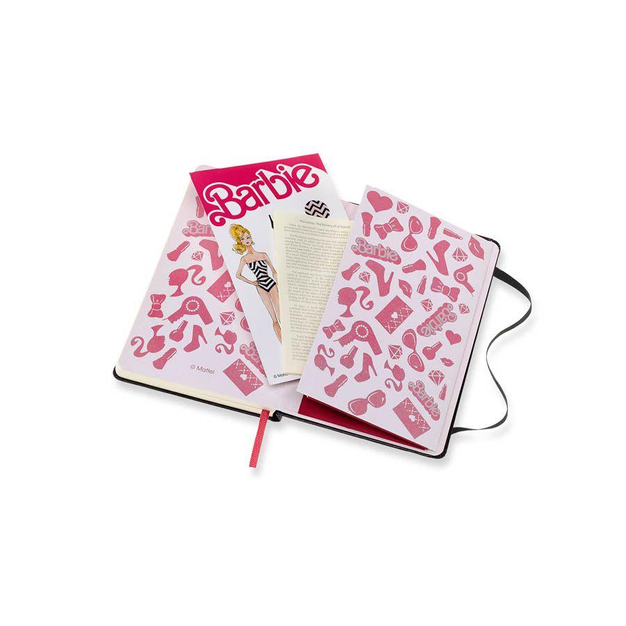Caderno Moleskine Edição Limitada, Barbie, Acessórios, Capa Dura, Sem Pauta, Tamanho Bolso