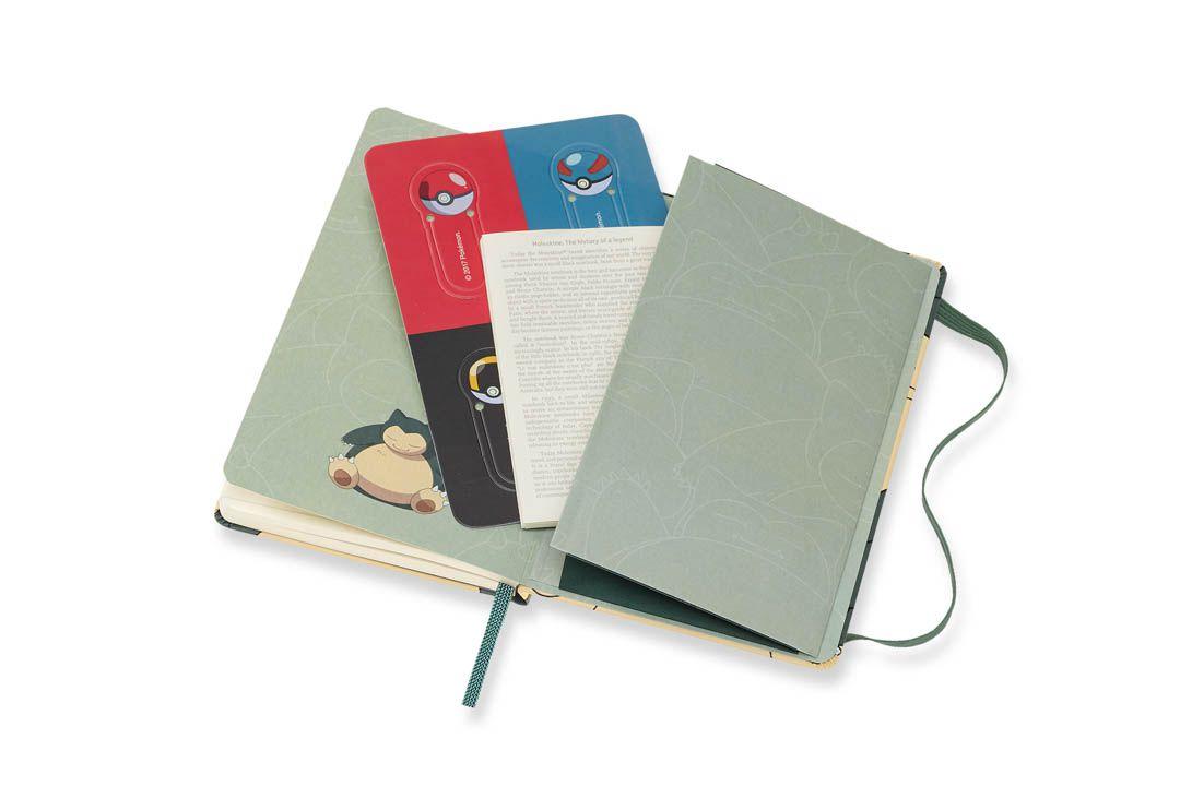 Caderno Moleskine Edição Limitada, Pokémon, Snorlax, Capa Dura, Pautado, Tamanho Bolso