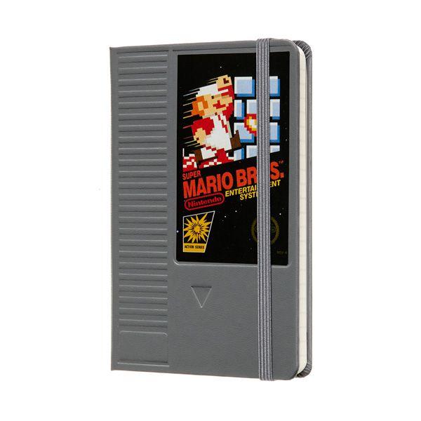 Caderno Moleskine, Edição Limitada Super Mario, Cartucho, Pautado, Tamanho Bolso (9 x 14 cm)
