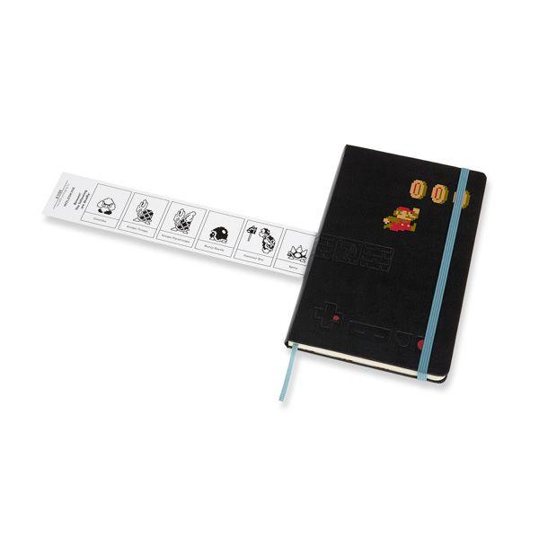 Caderno Moleskine, Edição Limitada Super Mario, Em Movimento, Pautado, Grande (13 x 21 cm)