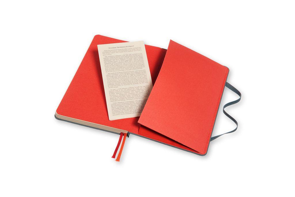Caderno Moleskine Two Go, Azul Saxe, Capa Dura, Pautado e Sem Pauta, Capa em Tecido