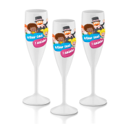 20 Taças de Champagne 160 ml Personalizadas P/Festa