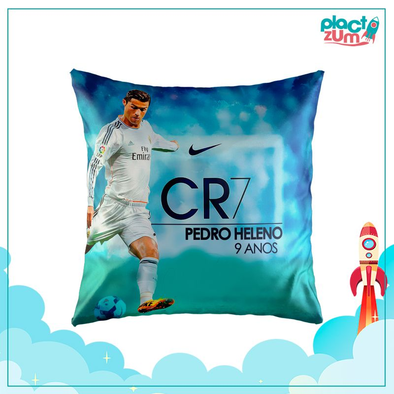 Almofada Real Madrid - CR7 Cristiano Ronaldo  - PLACT ZUM