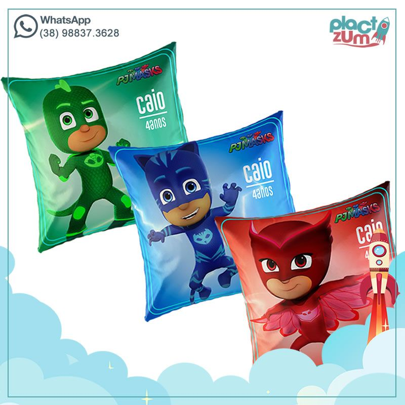 Almofadas PJ Masks - Heróis de Pijama  - PLACT ZUM