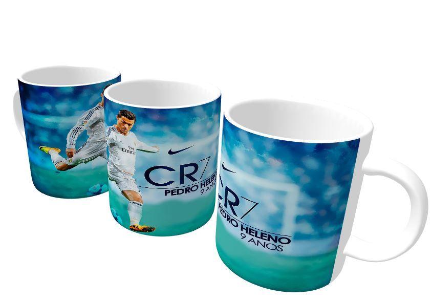 Caneca Plástica Real Madrid - CR7 Cristiano Ronaldo  - PLACT ZUM