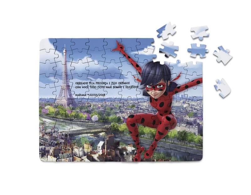 Kit com 2 Quebra-Cabeça Miraculous Ladybug  - PLACT ZUM