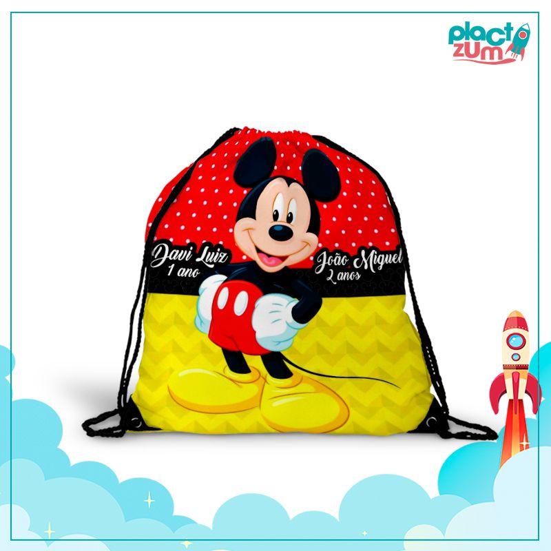 Mochila Saco Mickey  - PLACT ZUM
