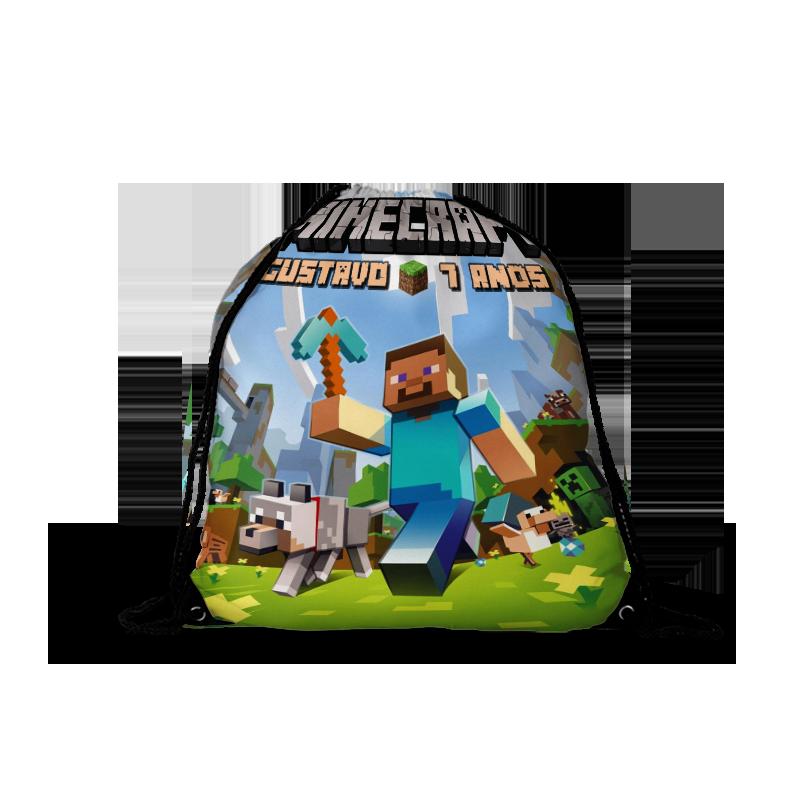 Mochila Saco Minecraft  - PLACT ZUM