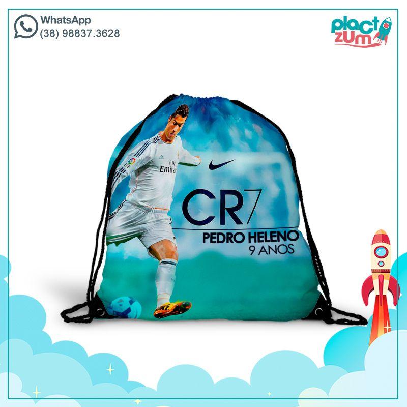 Mochila Saco  Real Madrid - Cristiano Ronaldo CR7  - PLACT ZUM