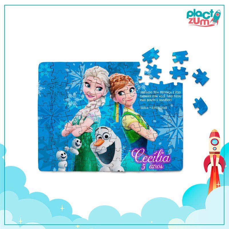 Quebra-Cabeça Frozen 40 peças  - PLACT ZUM