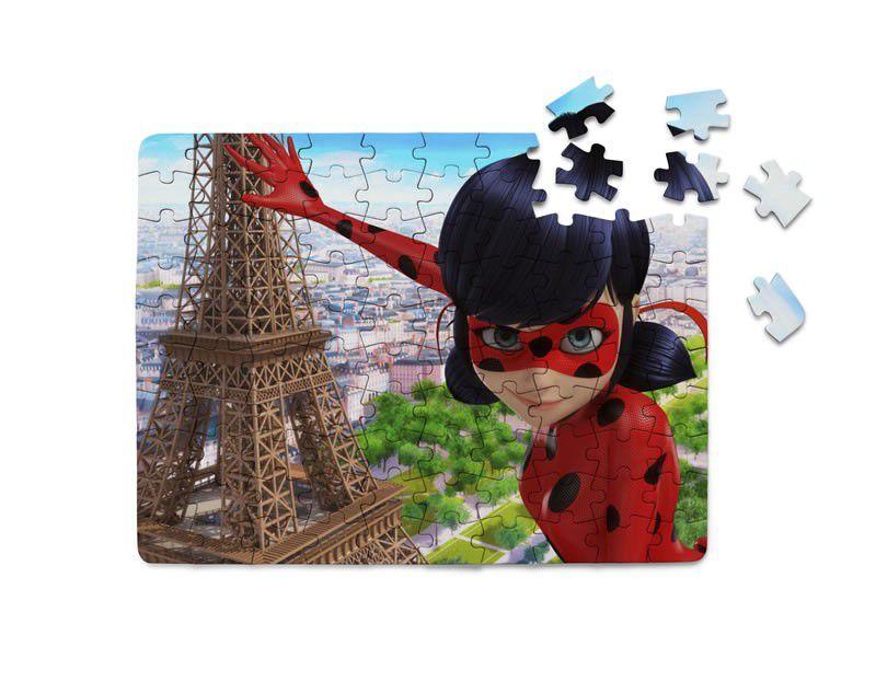 Quebra-Cabeça Miraculous Ladybug 40 peças  - PLACT ZUM