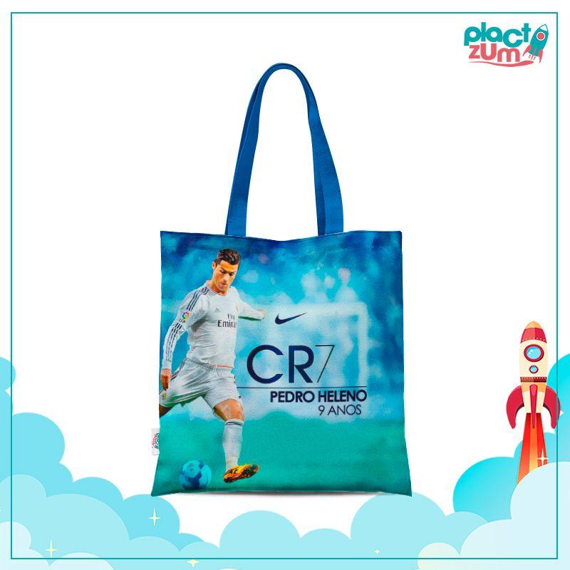 Sacola de Tactel Real Madrid - CR7 Cristiano Ronaldo  - PLACT ZUM