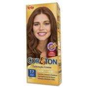 Coloração Creme Cor e Ton 7.7 Marrom Dourado - Niely