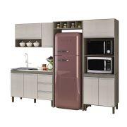 Cozinha Modulada Karen 05 Módulos Composição 7450 Malbec/Avelã - Peternella Móveis