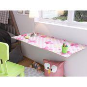 Mesa de Parede Dobrável com Cadeira em MDF Kids 70 cm - Buterfly
