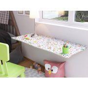 Mesa de Parede Dobrável com Cadeira em MDF Kids 70 cm - Toys