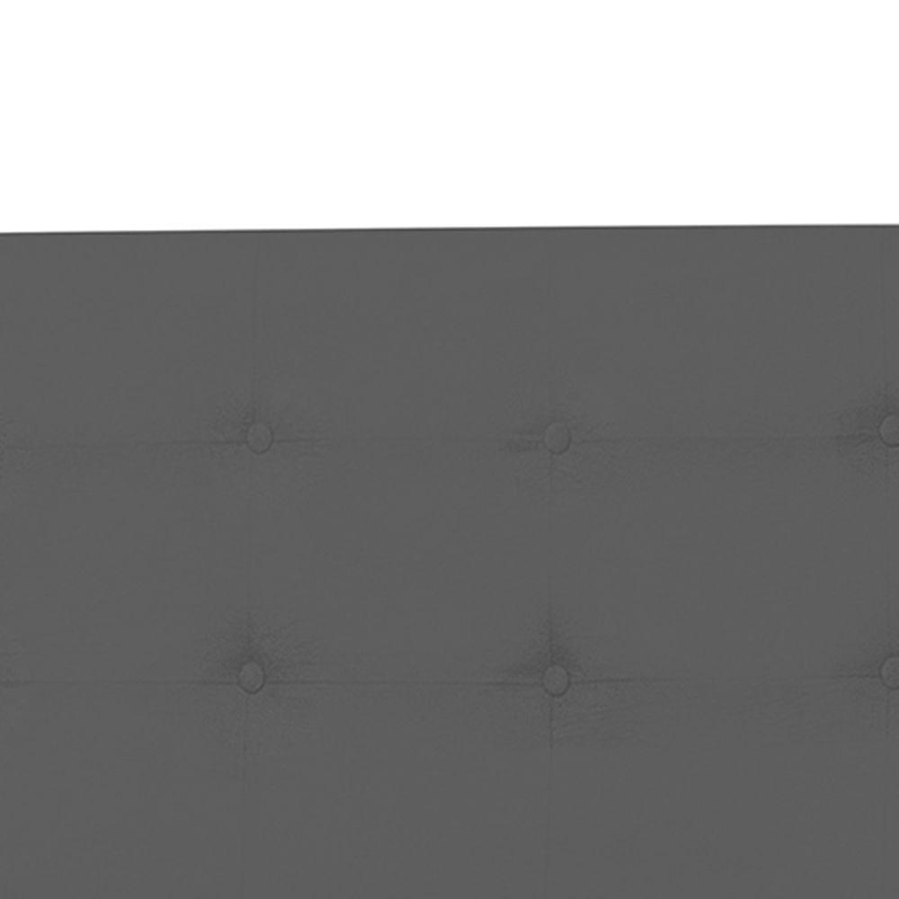 Cabeceira Casal King 193cm Para Cama Box Luna Suede Cinza - DS Móveis