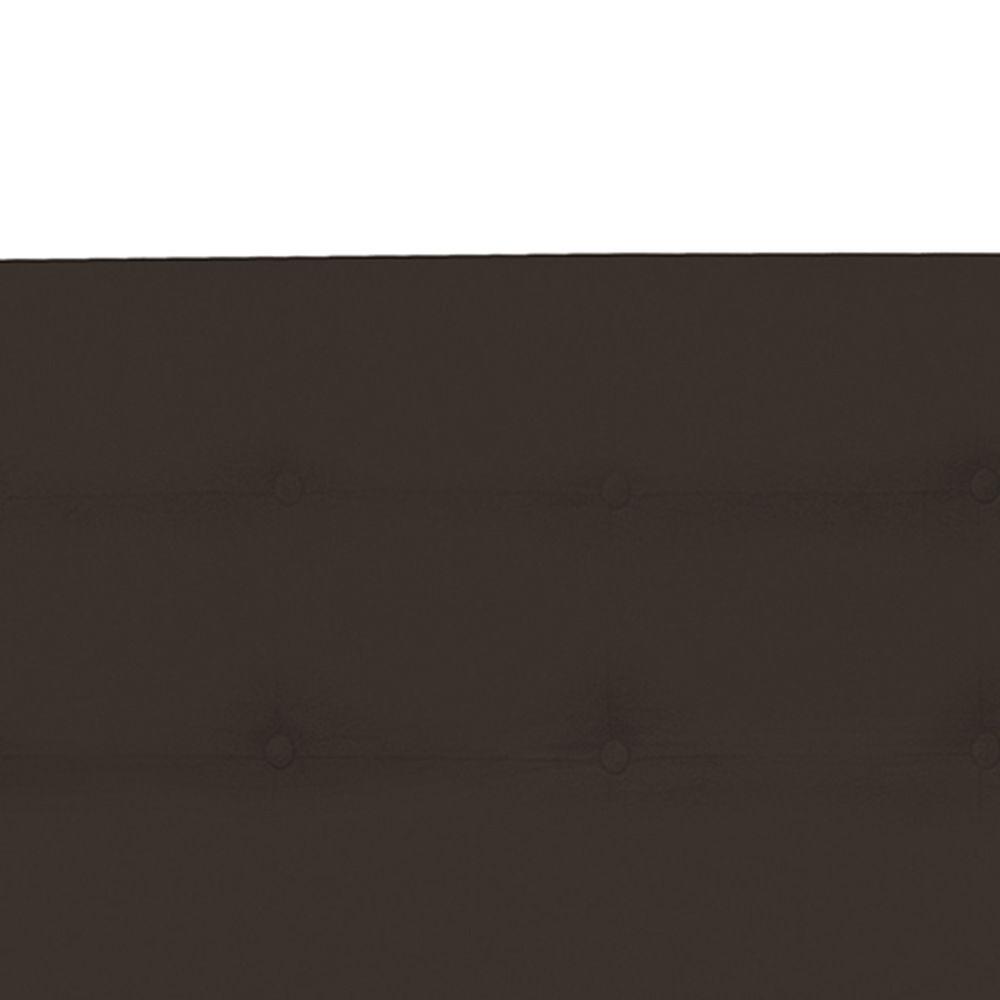 Cabeceira Casal Queen 160cm Para Cama Box Luna Suede Marrom  - DS Móveis