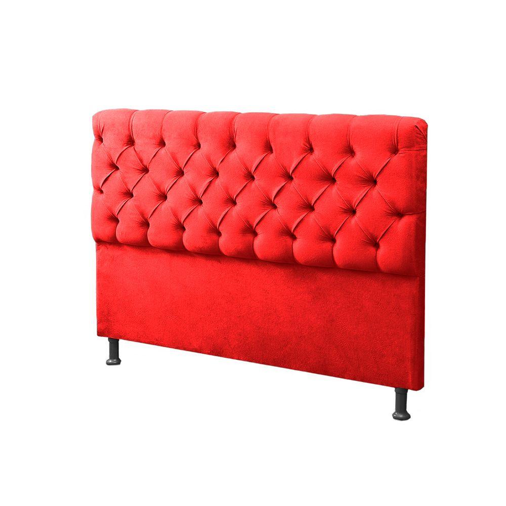 7ece3b12d ... Cabeceira Mais Calçadeira Baú Casal Queen 160cm Para Cama Box Sofia  Suede Vermelho - DS Móveis ...
