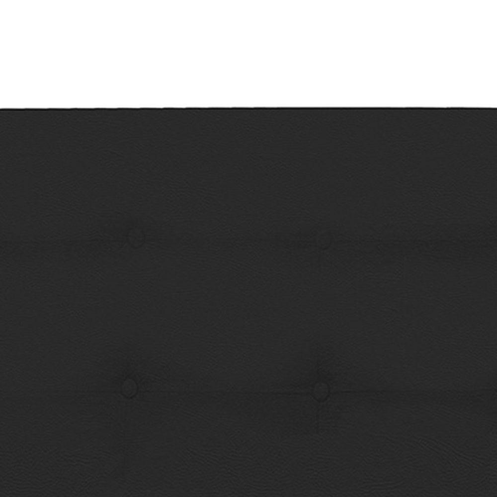 Cabeceira Solteiro 90cm Para Cama Box Luna Corino Preto - DS Móveis