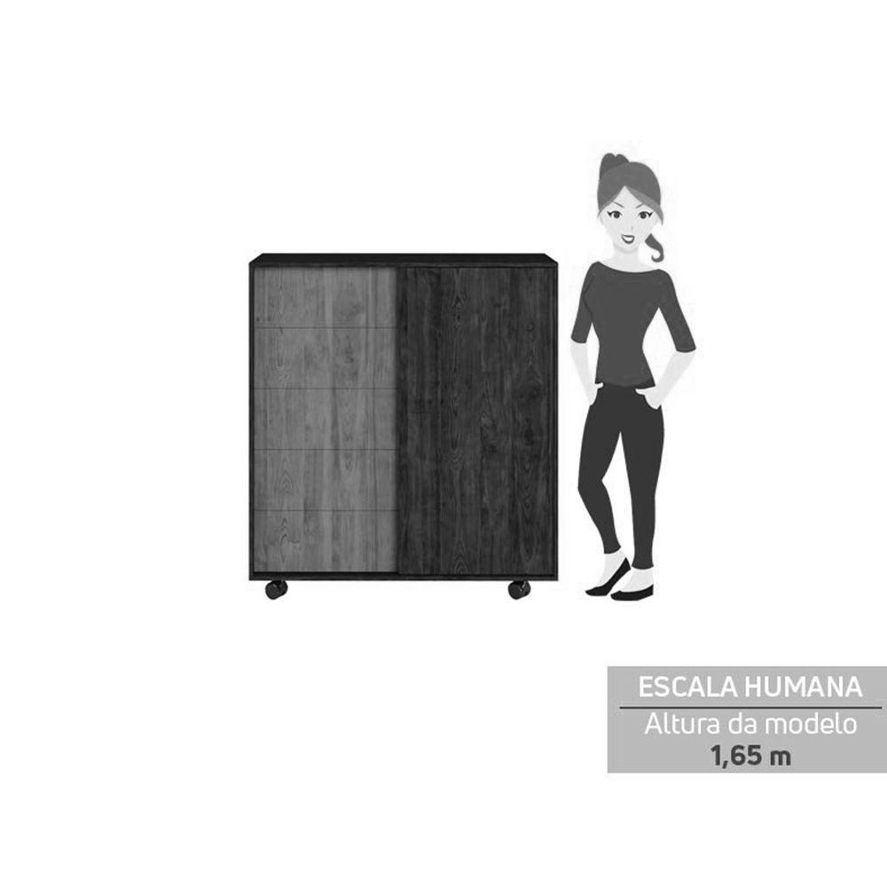 Cômoda com 2 Portas deslizantes Ana Branco Fosco - Caemmun