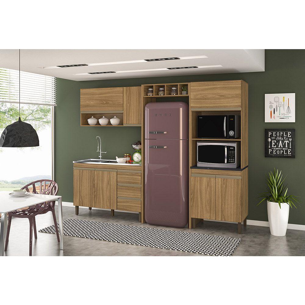 Cozinha Modulada Karen 05 Módulos Composição 7450 Nature - Peternella Móveis