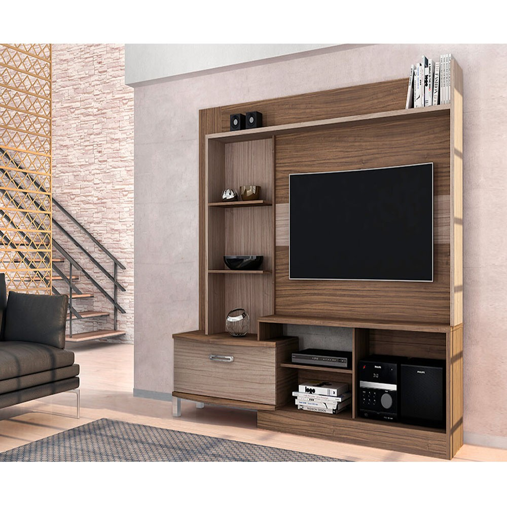 Home Theater Para Tv New Lavínia Malbec com Riviera Fosco - Colibri