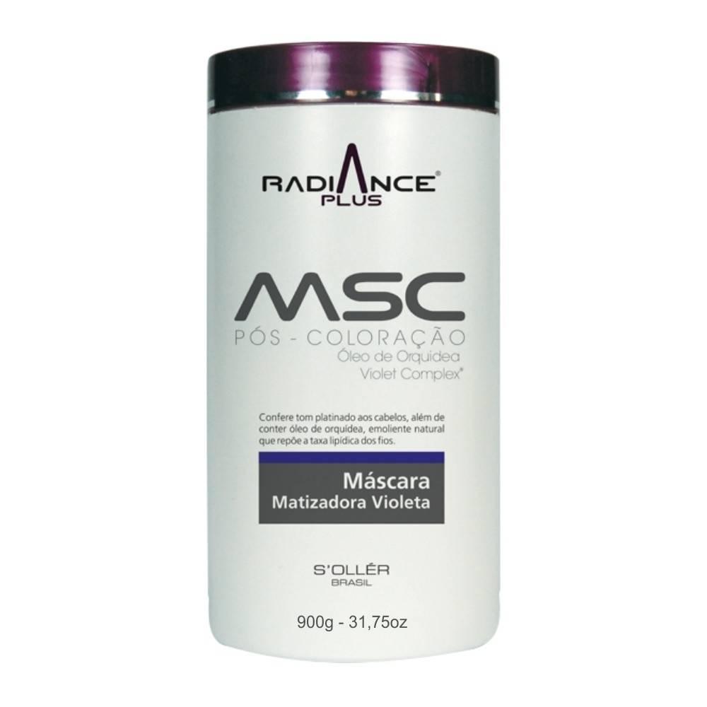 Máscara Agi Max Matizadora Violeta Msc Pós Coloração Radiance 900g - S'oller Brasil